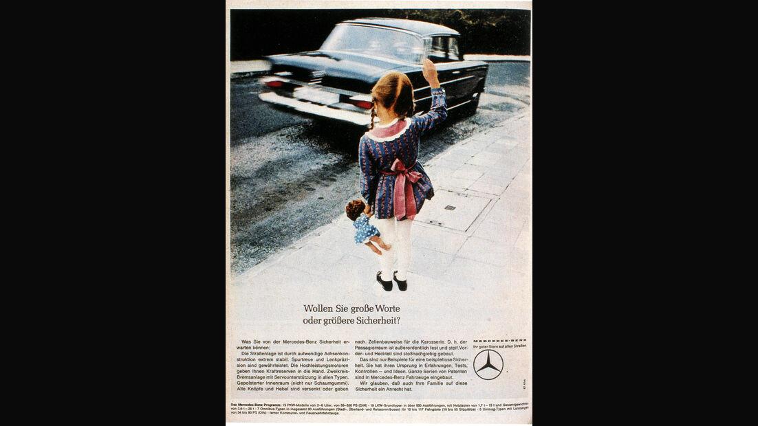 Autowerbung, Sicherheit, Mercedes