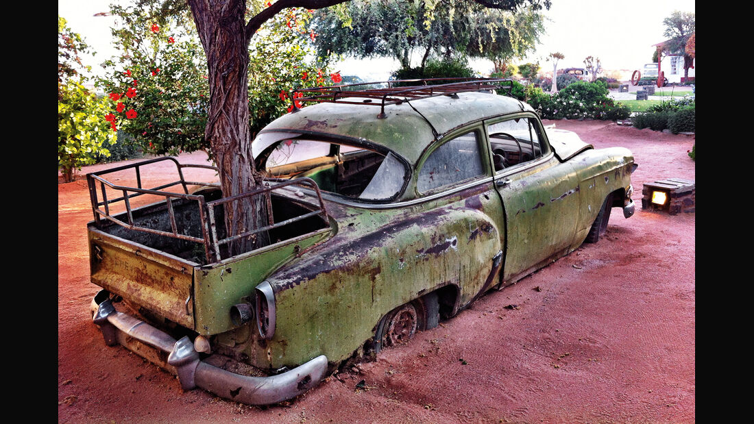 Autowracks in Namibia, Pickup, Baum