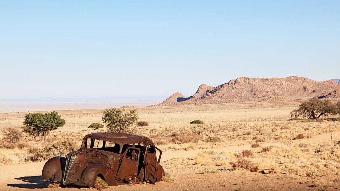 Autowracks in Namibia, Wüste