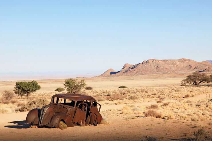 Autowracks in Namibia, Wüste