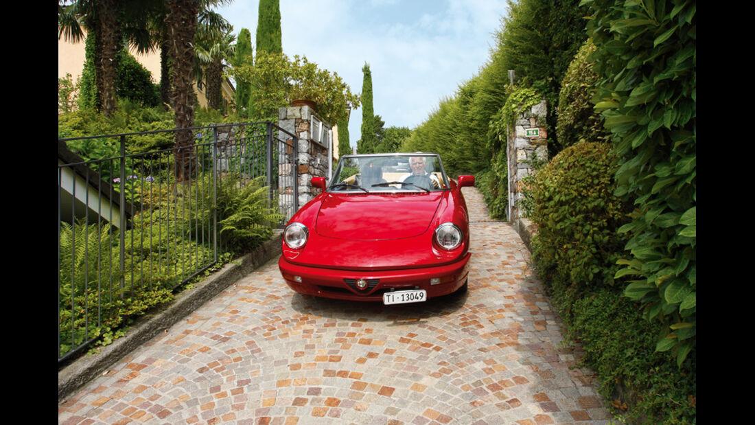 Axel Marx, Alfa Romeo Spider, Zufahrt