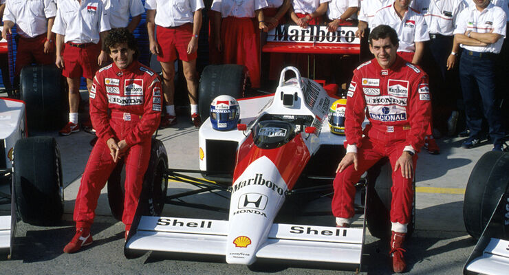 Ayrton Senna Alain Prost McLaren 1988