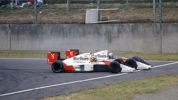 Ayrton Senna - Alain Prost - McLaren MP4/5 - GP Japan 1989