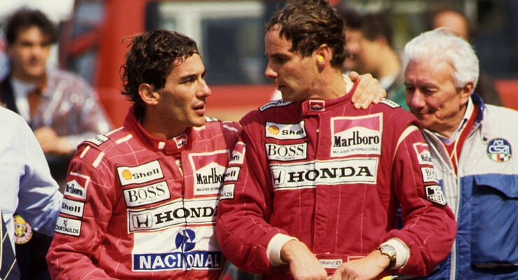 Ayrton Senna & Gerhard Berger - GP San Marino 1991
