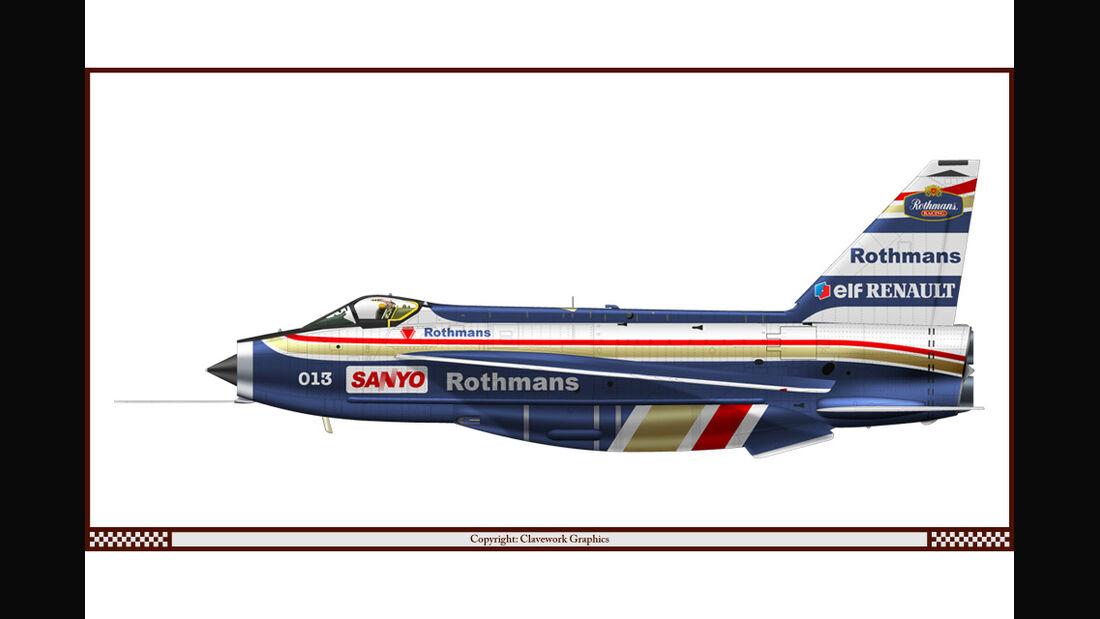 BAC Lightning - Williams - Racing-Planes - 2015