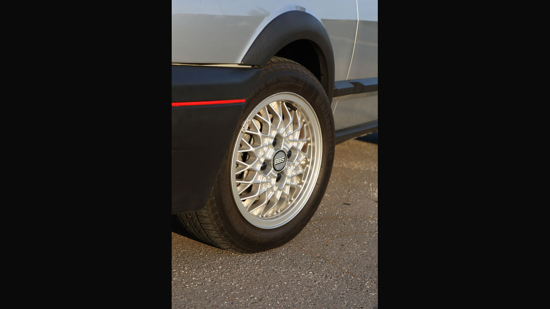 BBS-Kreuzspeichenfelgen am VW Polo G40