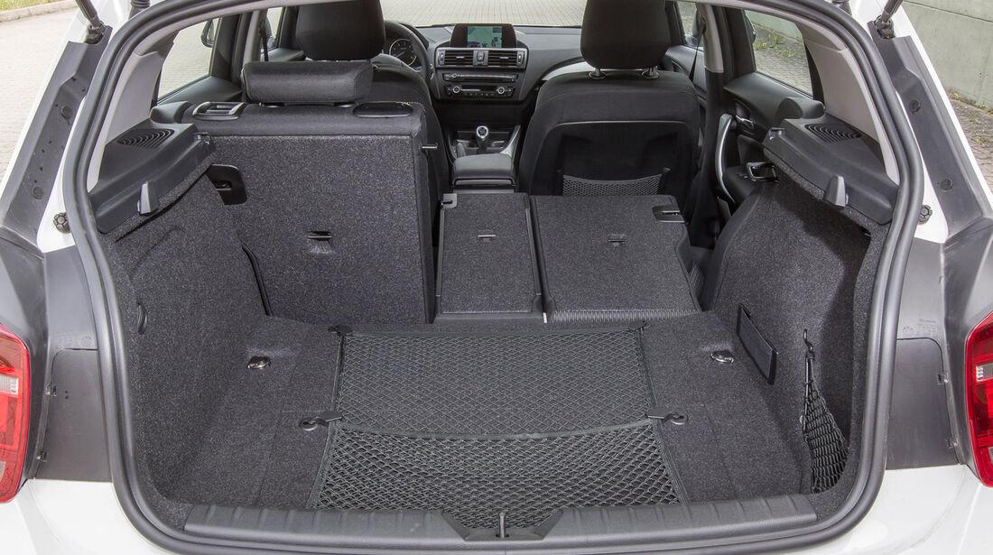 BMW 114d, Kofferraum, Ladefläche