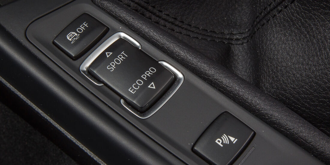 BMW 114d, Mittelkonsole, Bedienelemente