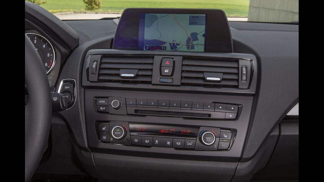 BMW 114d, Navi, Mittelkonsole