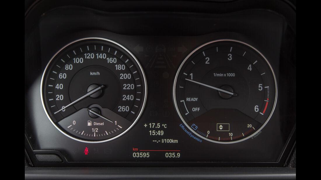 BMW 114d, Rundinstrumente