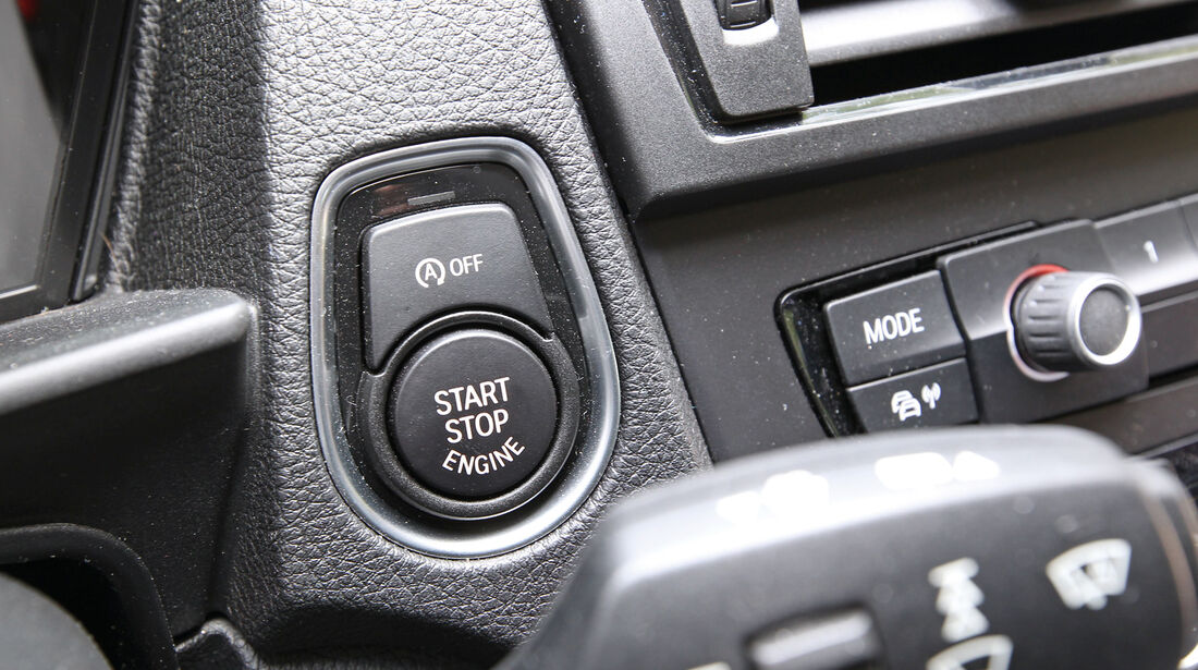 BMW 114i, Bedienelement, Start-Stopp-Automatik