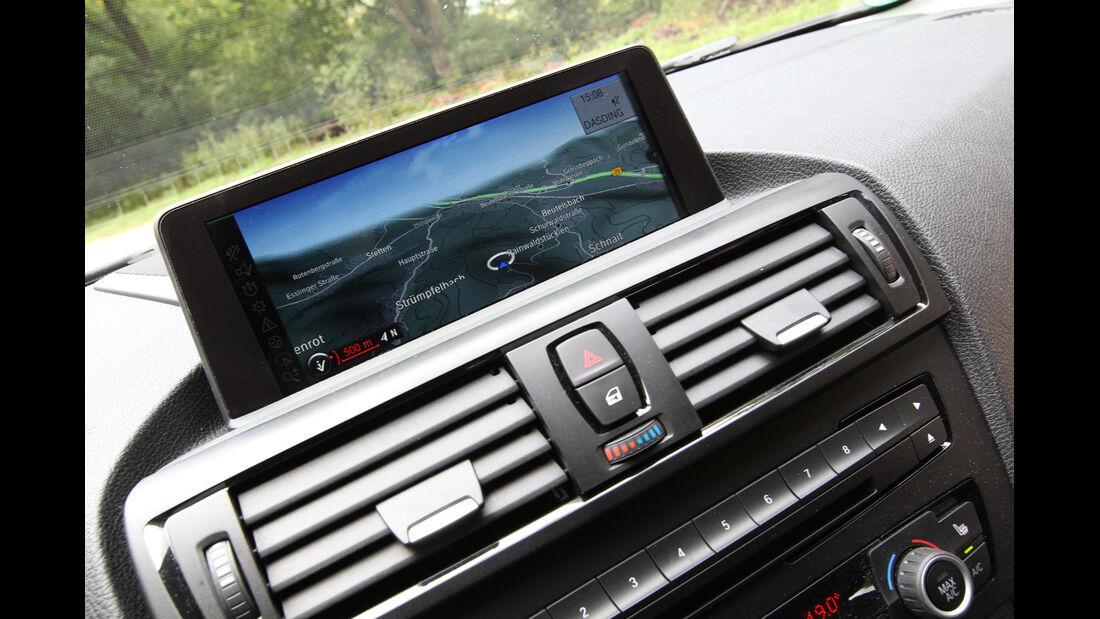 BMW 114i, Mittelkonsole, Bildschirm