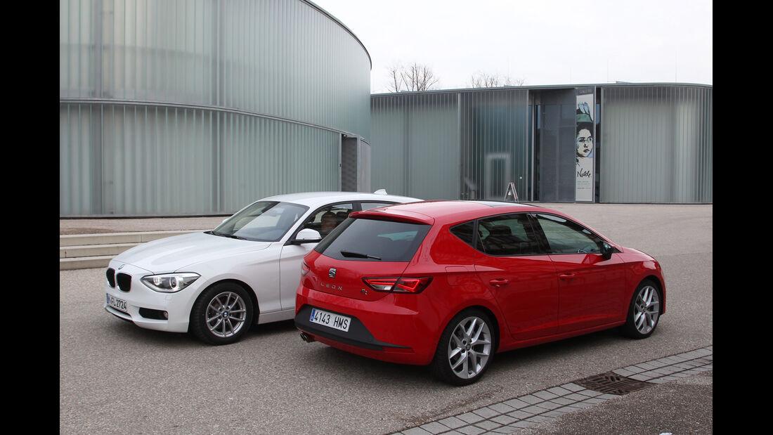BMW 114i, Seat León 1.4 TSI, Seitenansicht