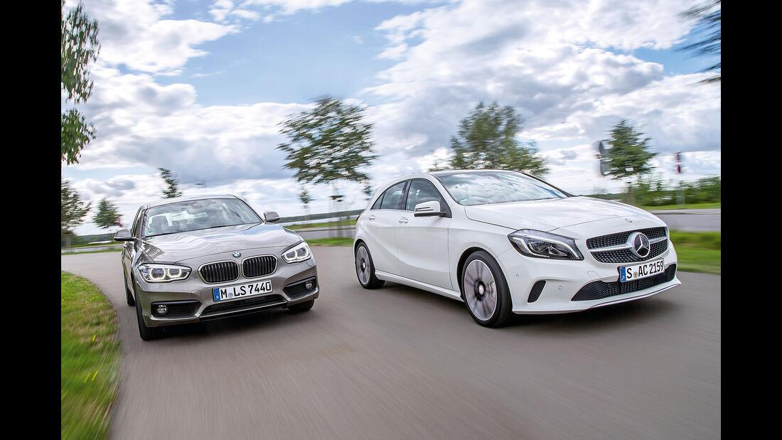 BMW 116d EDE, Mercedes A 220 d, Frontansicht