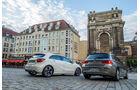 BMW 116d EDE, Mercedes A 220 d, Heckansicht