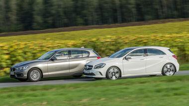 BMW 116d EDE, Mercedes A 220 d, Seitenansicht