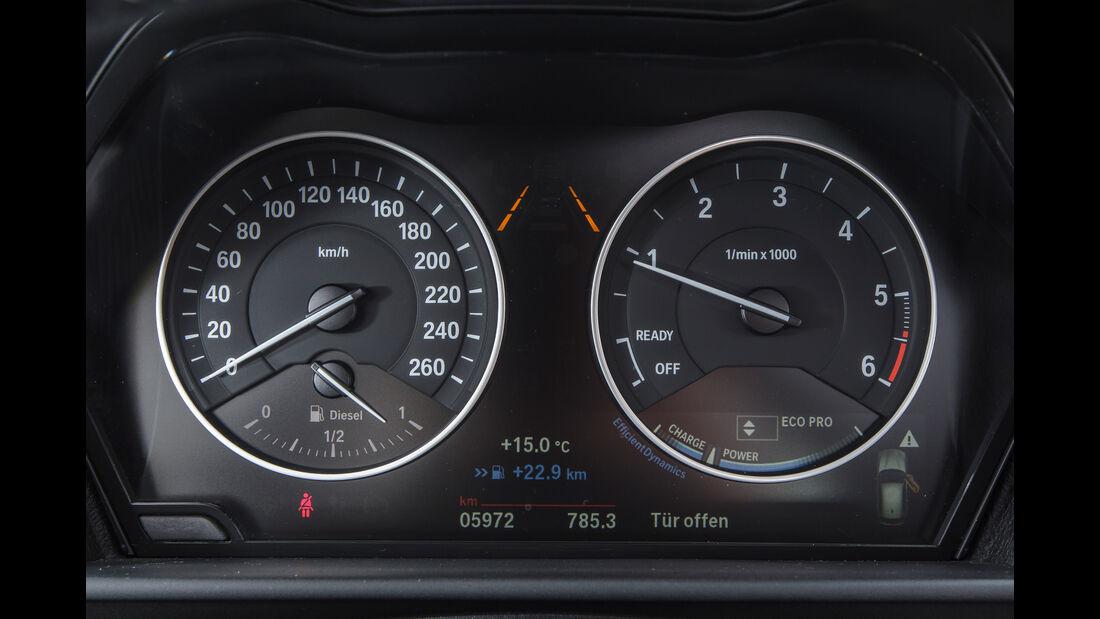 BMW 116d EDE, Rundinstrumente