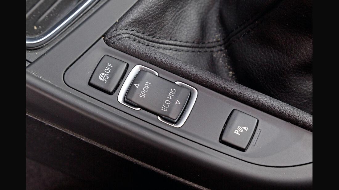 BMW 116d, Fahreinstellung, Bedienelemente
