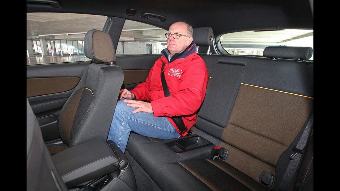 BMW 116d, Rückbank