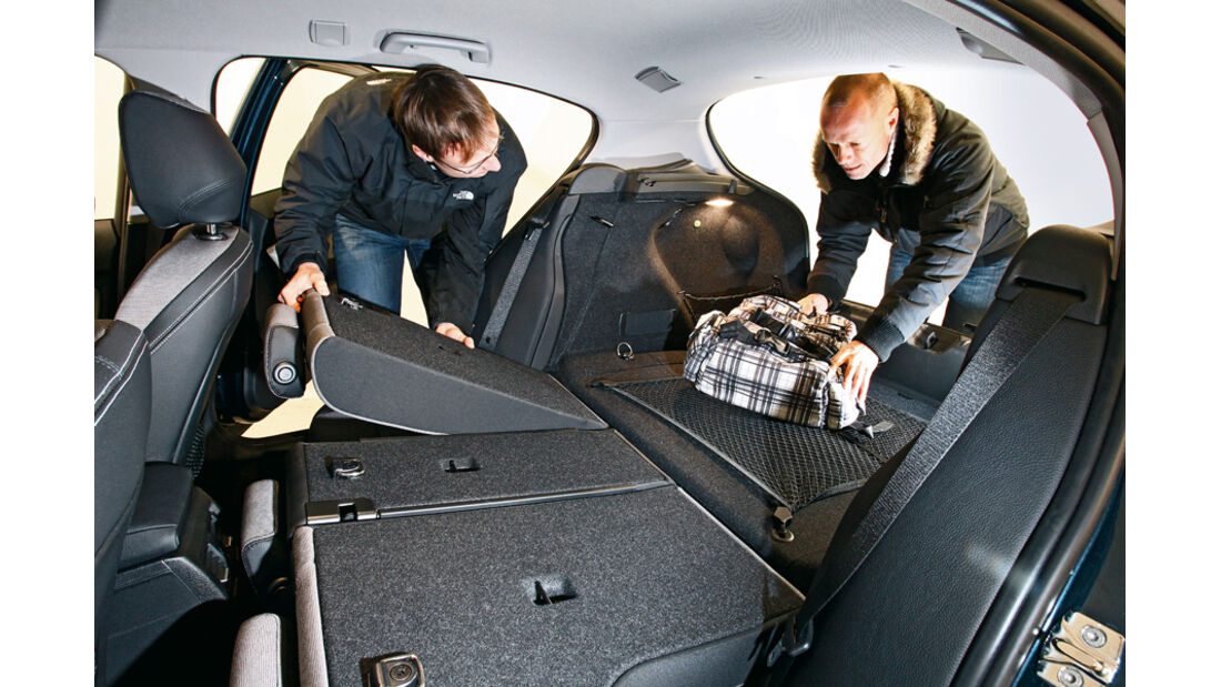 BMW 116d, Rücksitz