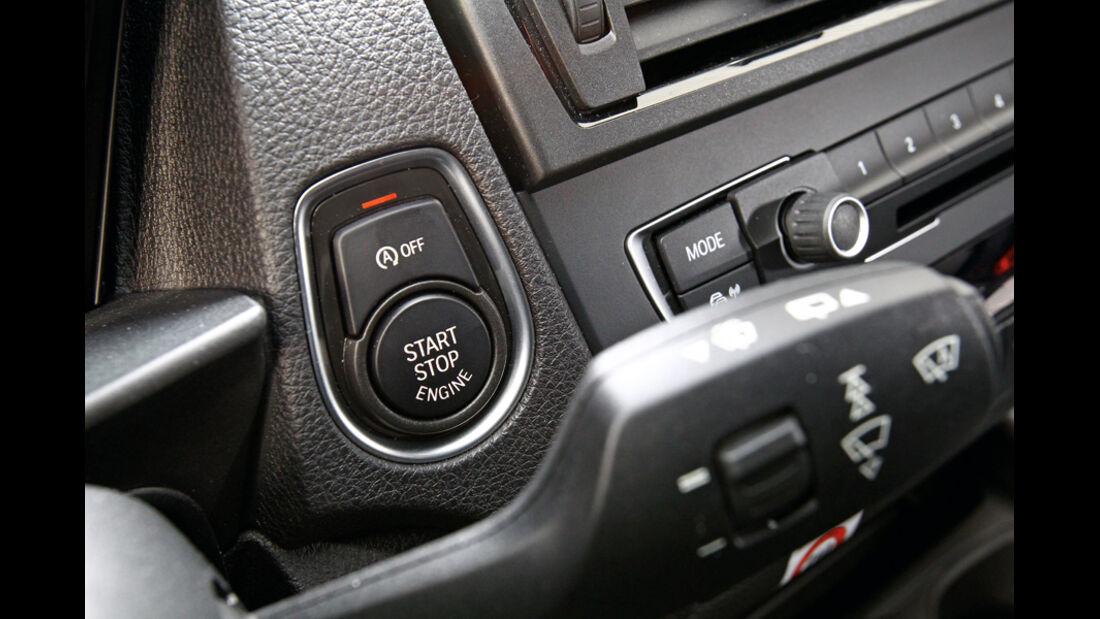 BMW 116d, Start-Sopp-Automatik, Bedienknöpfe