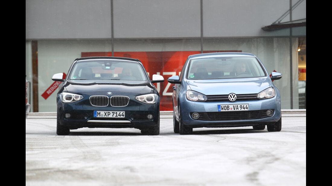 BMW 116d, VW Golf 1.6 TDI