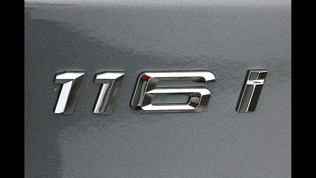 BMW 116i, Modellbezeichnung