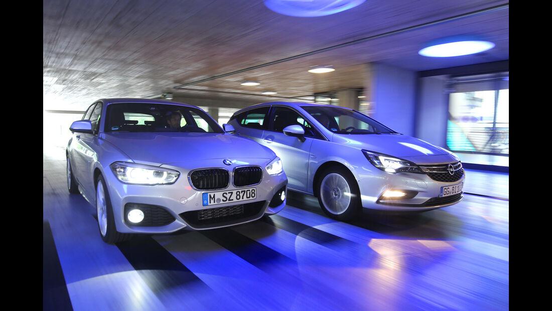 BMW 118d, Opel Astra 1.6 Biturbo CDTI, Frontansicht