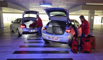 BMW 118d, Opel Astra 1.6 Biturbo CDTI, Kofferraum