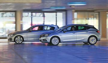 BMW 118d, Opel Astra 1.6 Biturbo CDTI, Seitenansicht