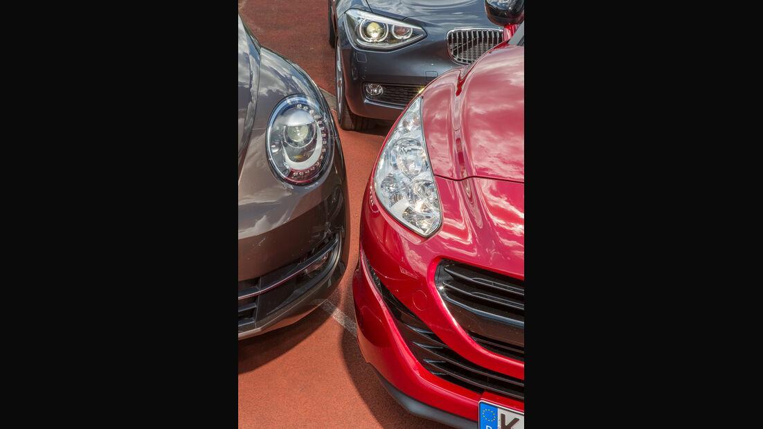 BMW 118d, VW Beetle, Peugeot RCZ, Frontscheinwerfer
