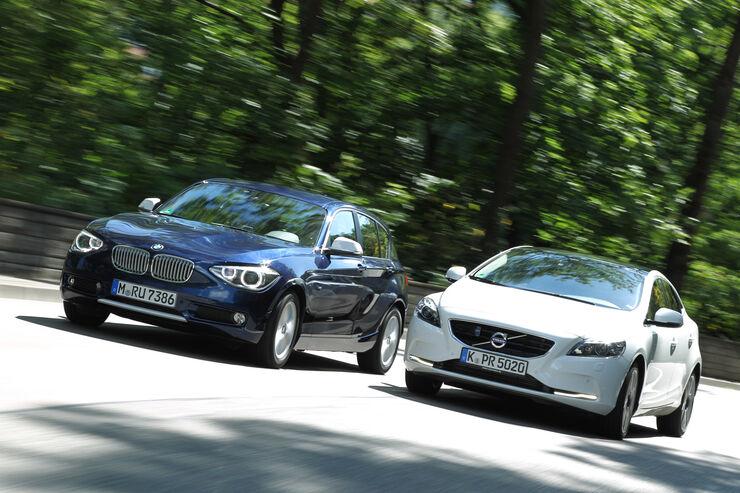 BMW 118d, Volvo V40 D3, Frontansicht