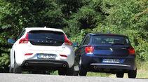 BMW 118d, Volvo V40 D3, Heckansicht