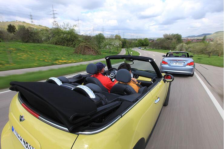 auto motor und sport tv bmw 1er cabrio gegen mini cooper cabrio auto motor und sport. Black Bedroom Furniture Sets. Home Design Ideas