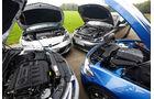 BMW 120d, Opel Astra GTC Biturbo CDTI, Seat Leon FR 2.0 TDI, VW Golf GTD, Motoren