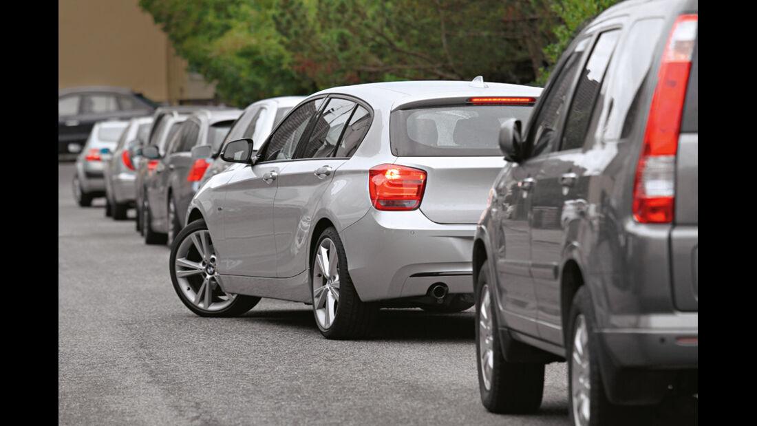 BMW 120d Sport Line, Einparken