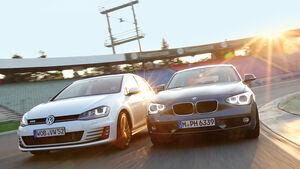 BMW 120d, VW Golf GTD, Frontansicht