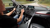 BMW 120d x-Drive, Cockpit, Fahrersicht