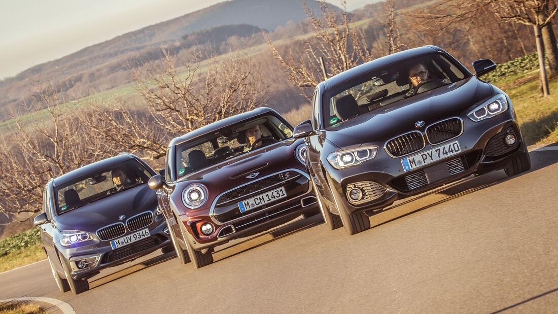 BMW 120i, BMW 220i Active Tourer, Mini Cooper S Clubman