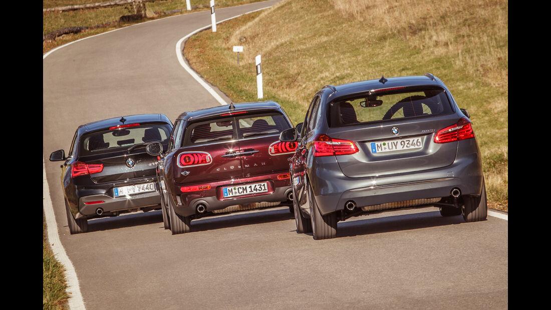 BMW 120i, BMW 220i Active Tourer, Mini Cooper S Clubman