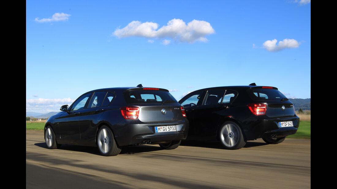BMW 125i, BMW 125d, Heckansicht
