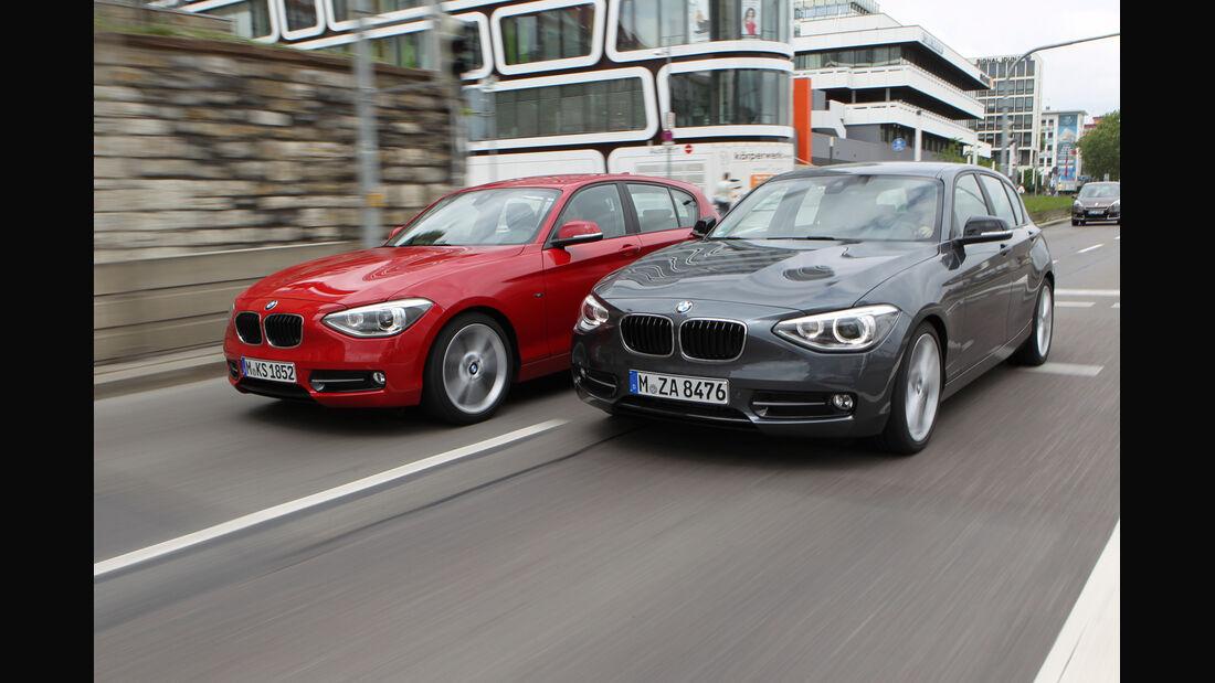 BMW 125i, BMW125d, Frontansicht