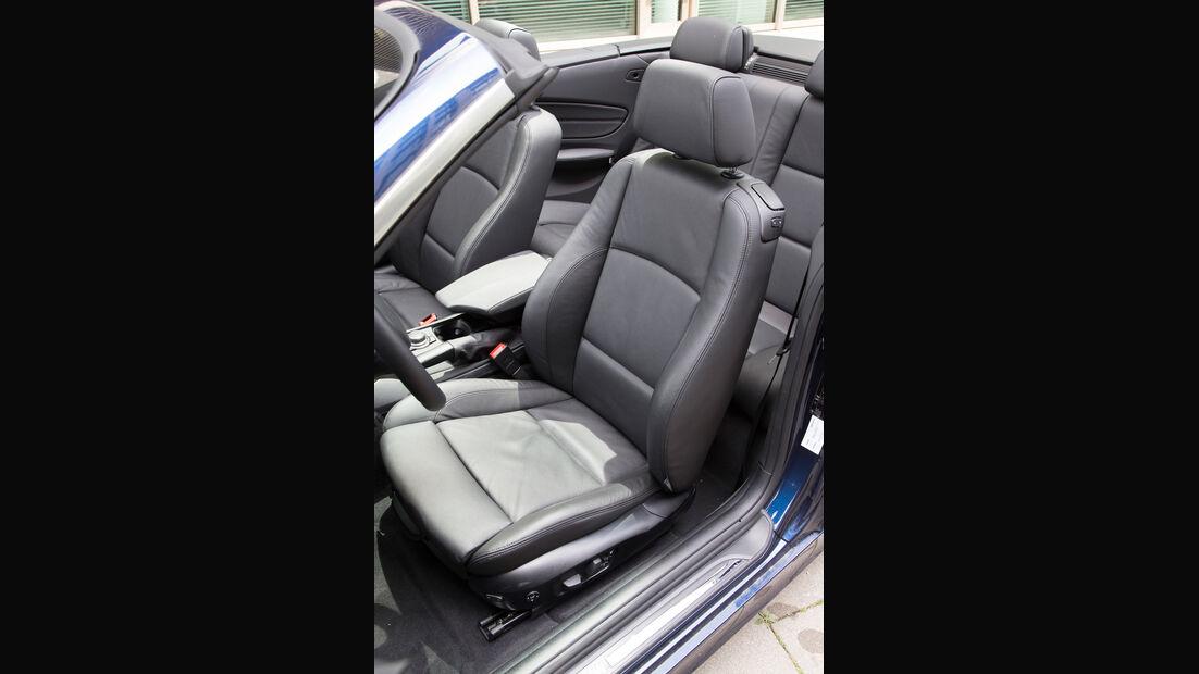 BMW 125i Cabrio, Fahrersitz