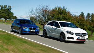 BMW 125i, Mercedes A 250 Sport, Heckansicht