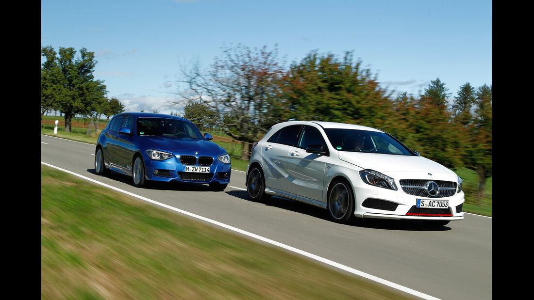BMW 125i, Mercedes A 250 Sport, Seitenansicht