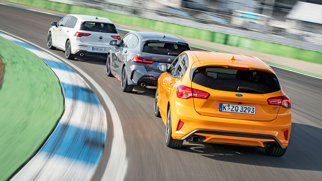 BMW 128ti, Ford Focus ST, VW Golf GTI, Exterieur