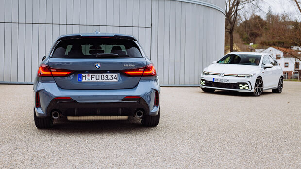 BMW 128ti, VW Golf GTI, Exterieur