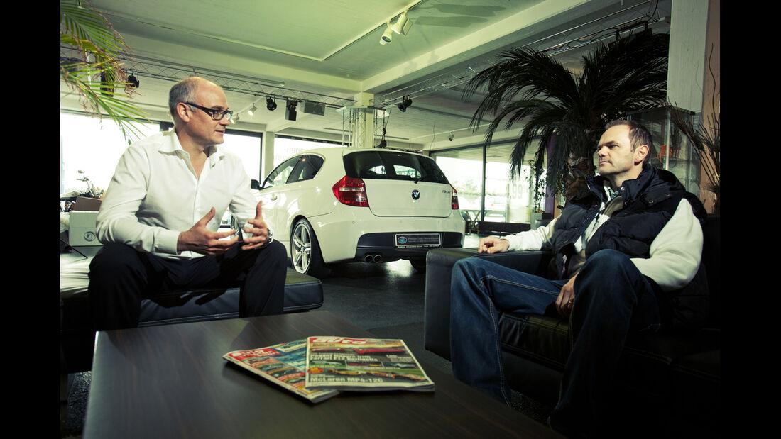 BMW 130i, Heckansicht, Händler