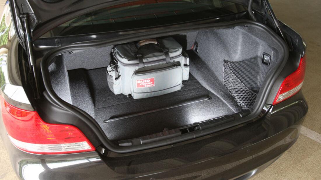 BMW 135i Coupé, Kofferraum