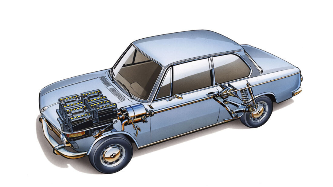 BMW 1602 mit Elektromotor